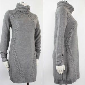 7a08d7fd455 Eliza J Dresses - Eliza J Cable Illusion Turtleneck Sweater Dress 42